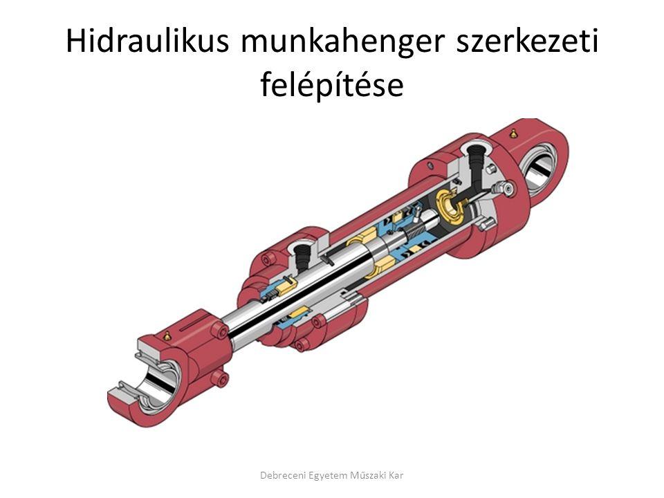 Hidraulikus munkahenger szerkezeti felépítése Debreceni Egyetem Műszaki Kar