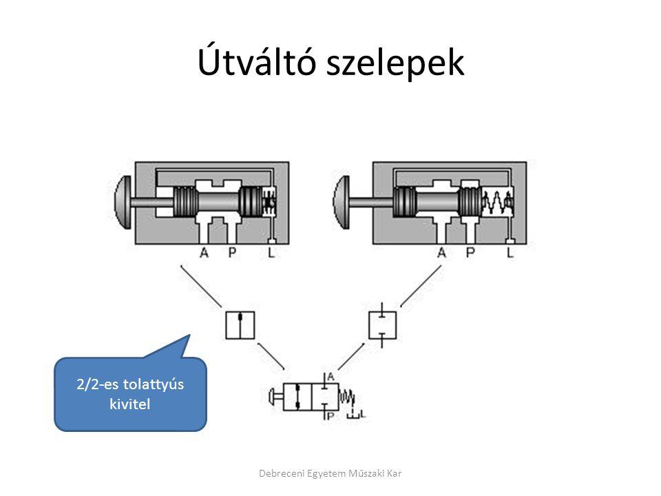 Útváltó szelepek Debreceni Egyetem Műszaki Kar 2/2-es tolattyús kivitel