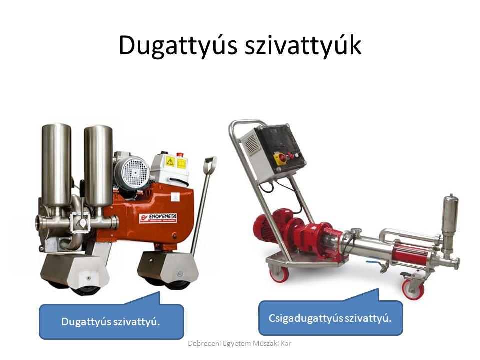 Dugattyús szivattyúk Debreceni Egyetem Műszaki Kar Dugattyús szivattyú. Csigadugattyús szivattyú.