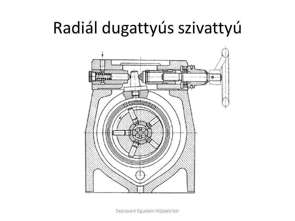 Radiál dugattyús szivattyú Debreceni Egyetem Műszaki Kar