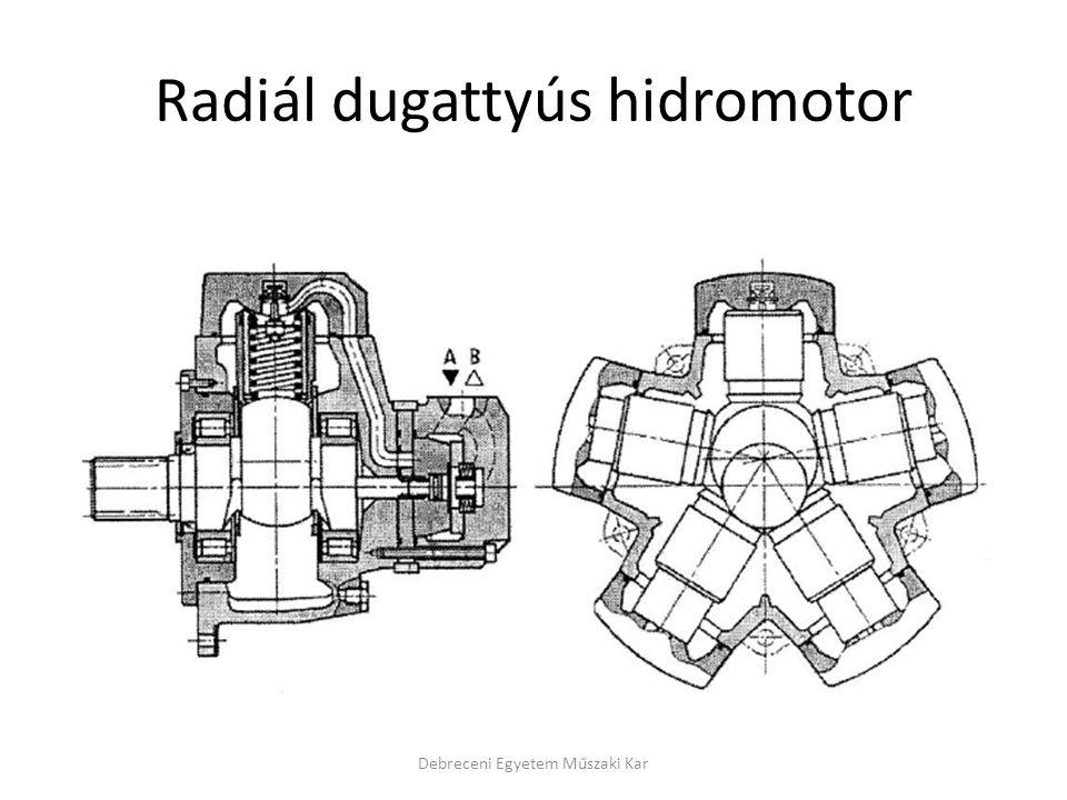 Radiál dugattyús hidromotor Debreceni Egyetem Műszaki Kar