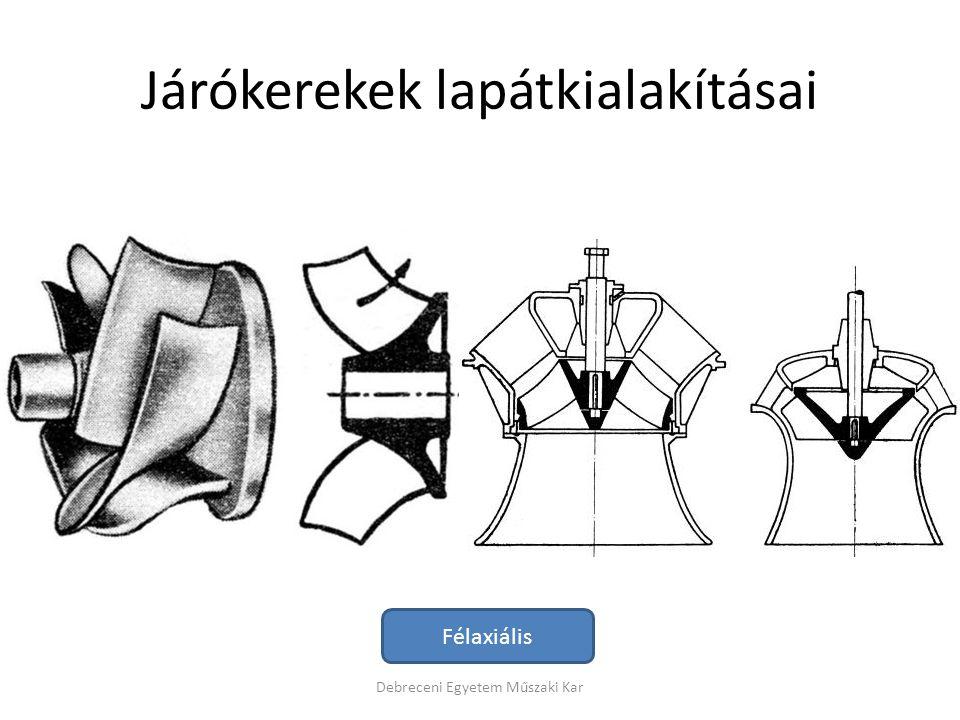 Járókerekek lapátkialakításai Debreceni Egyetem Műszaki Kar Félaxiális