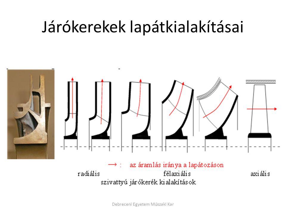 Járókerekek lapátkialakításai Debreceni Egyetem Műszaki Kar
