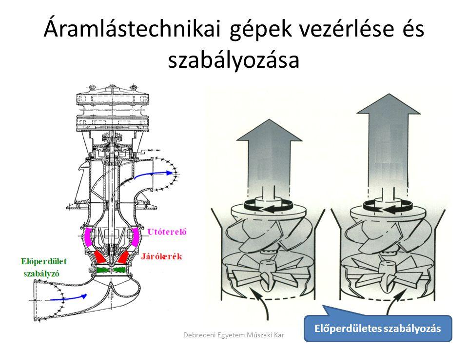 Áramlástechnikai gépek vezérlése és szabályozása Debreceni Egyetem Műszaki Kar Előperdületes szabályozás