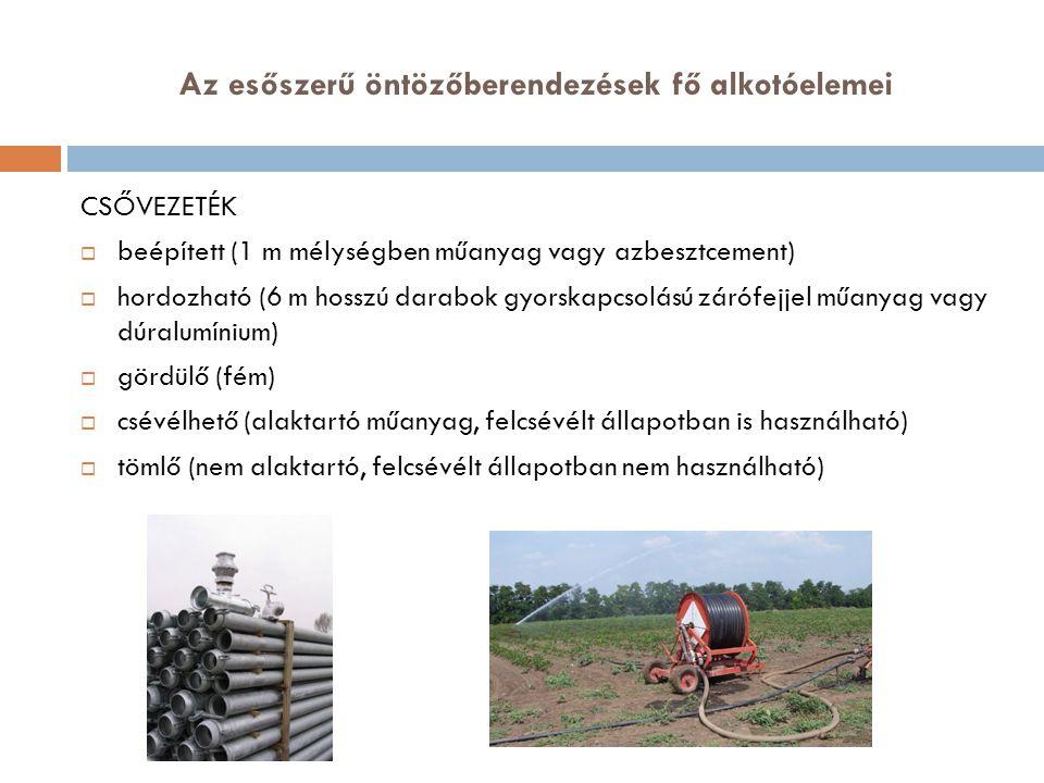 A csőhálózat tervezése  Fővezeték méretezése  Szárnyvezeték méretezése  Hány szárnyvezetéket építhetünk ki?