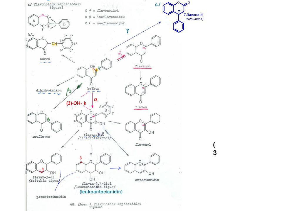  (3(3 (3)-OH- k  (leukoantocianidin) c./ 8 4
