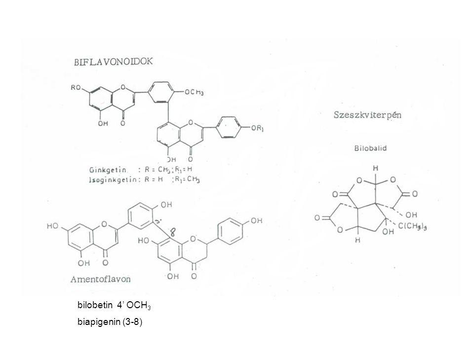 bilobetin 4' OCH 3 biapigenin (3-8)