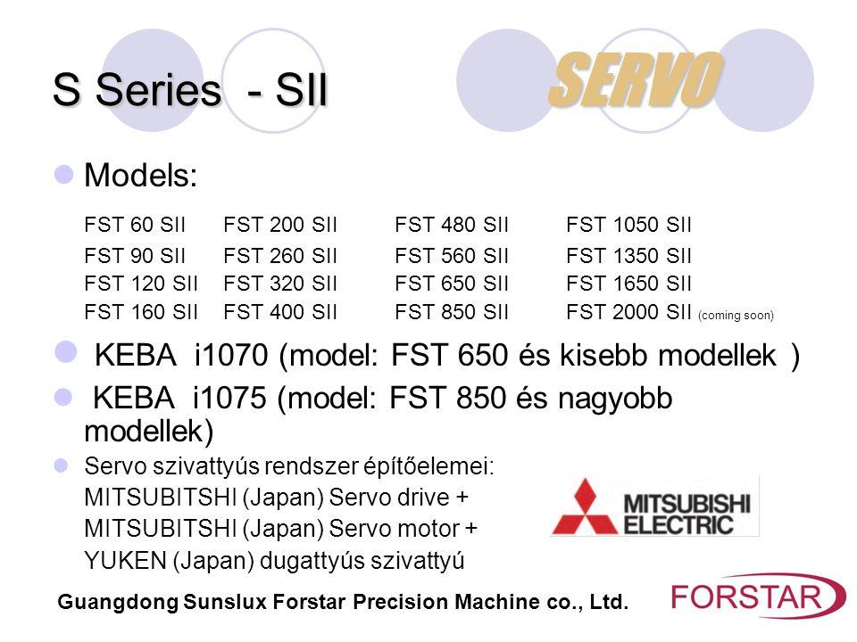 S Series - SII SERVO Models: FST 60 SIIFST 200 SIIFST 480 SIIFST 1050 SII FST 90 SIIFST 260 SIIFST 560 SIIFST 1350 SII FST 120 SIIFST 320 SIIFST 650 S