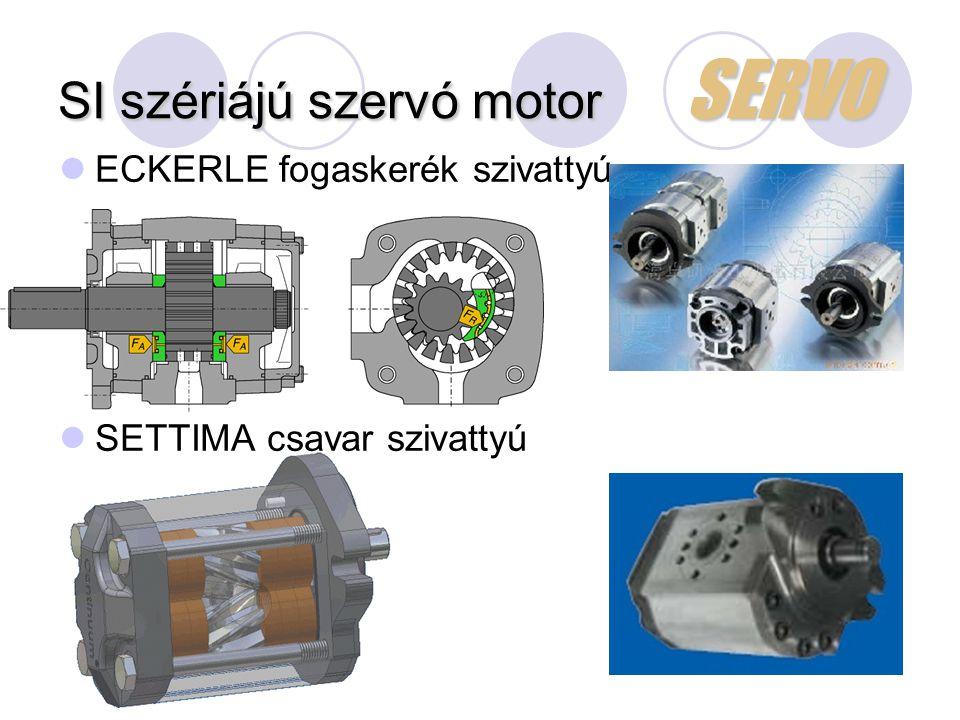 SI szériájú szervó motor SERVO ECKERLE fogaskerék szivattyú SETTIMA csavar szivattyú