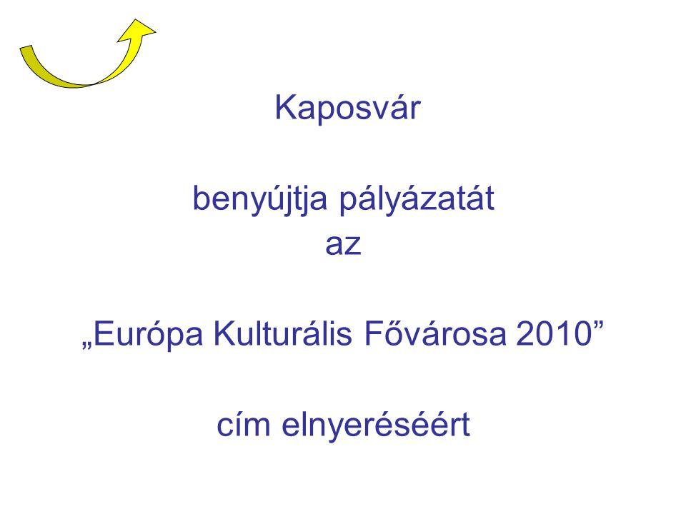 """benyújtja pályázatát az """"Európa Kulturális Fővárosa 2010"""" cím elnyeréséért"""