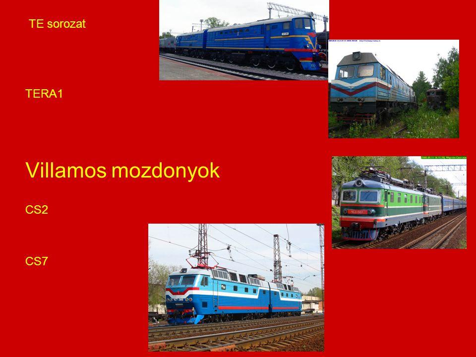 TE sorozat TERA1 Villamos mozdonyok CS2 CS7