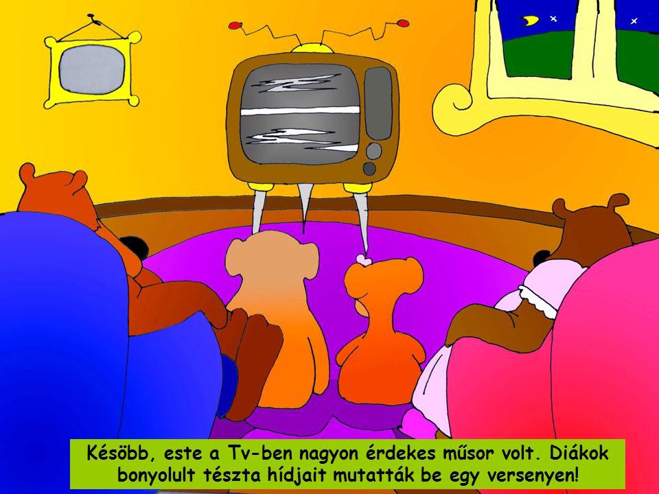 Késöbb, este a Tv-ben nagyon érdekes műsor volt.