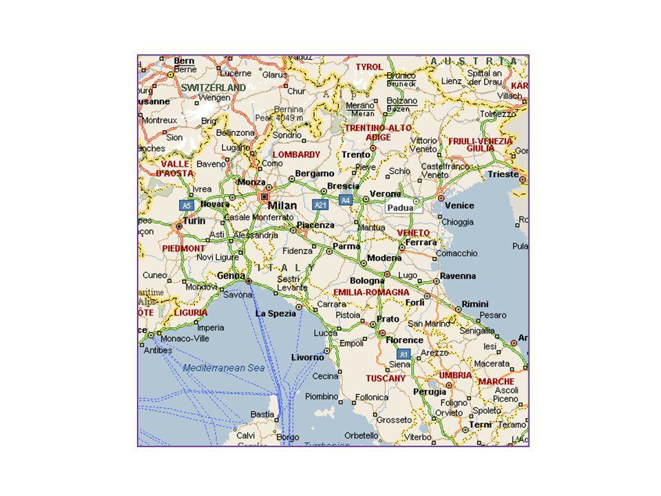 Velence => Ravenna => Firenze