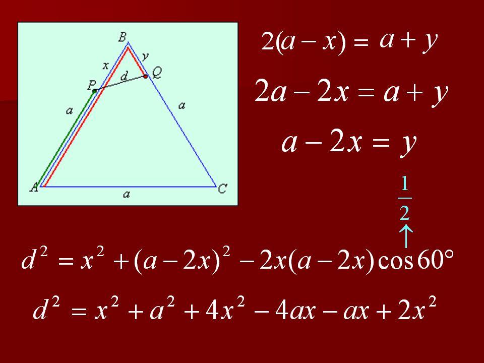 4. feladat A 4 m oldalú ABC szabályos háromszög alakú vasútmodell-pálya A csúcsából egy- szerre indul B irányában két kis vonat. Az egyik sebessége a