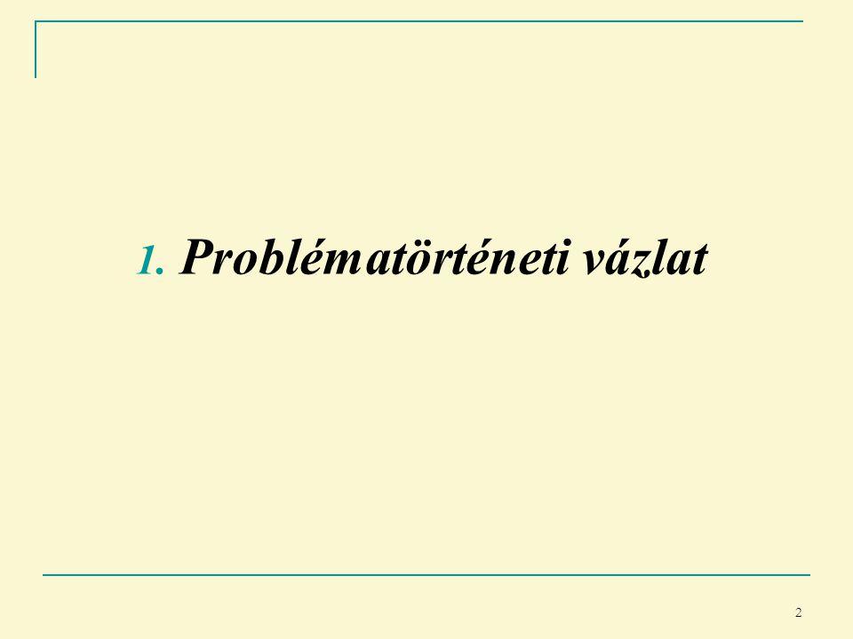 2 1. Problématörténeti vázlat