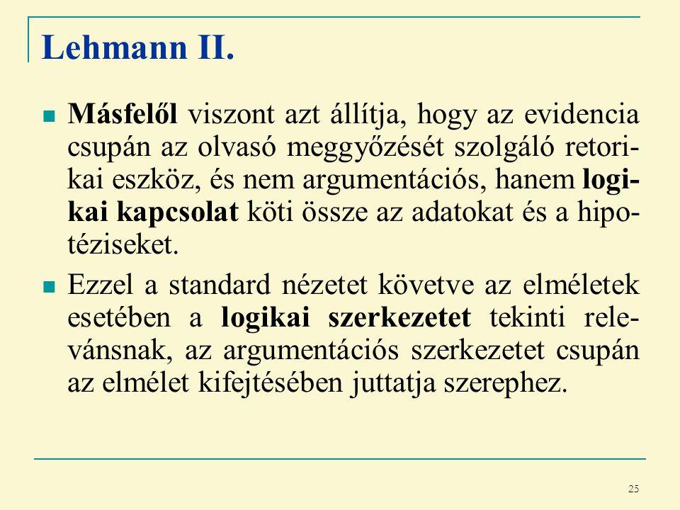 25 Lehmann II.