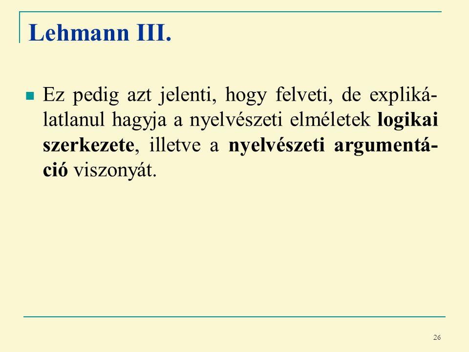 26 Lehmann III.