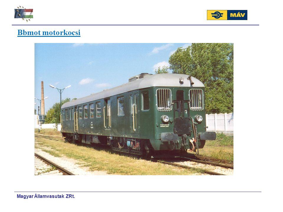Magyar Á Á llamvasutak ZRt. Bbmot motorkocsi