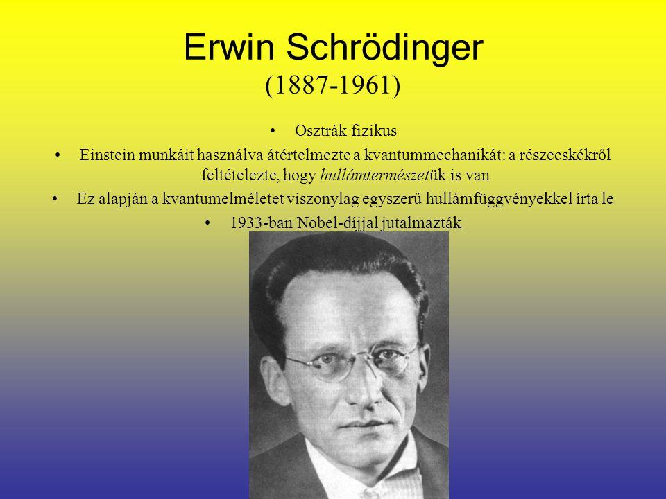 Werner Heisenberg (1901-1975) 1925-ben dolgozta ki a mátrixmechanikát 1927-ben dolgozta ki a határozatlansági relációt.