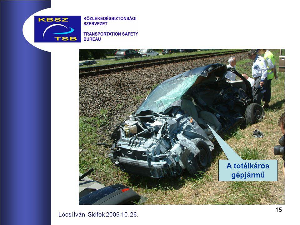 15 Lócsi Iván, Siófok 2006.10. 26. A totálkáros gépjármű