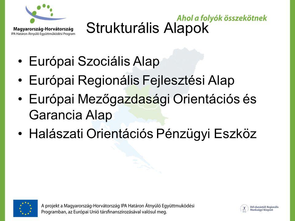 Strukturális Alapok Európai Szociális Alap Európai Regionális Fejlesztési Alap Európai Mezőgazdasági Orientációs és Garancia Alap Halászati Orientáció