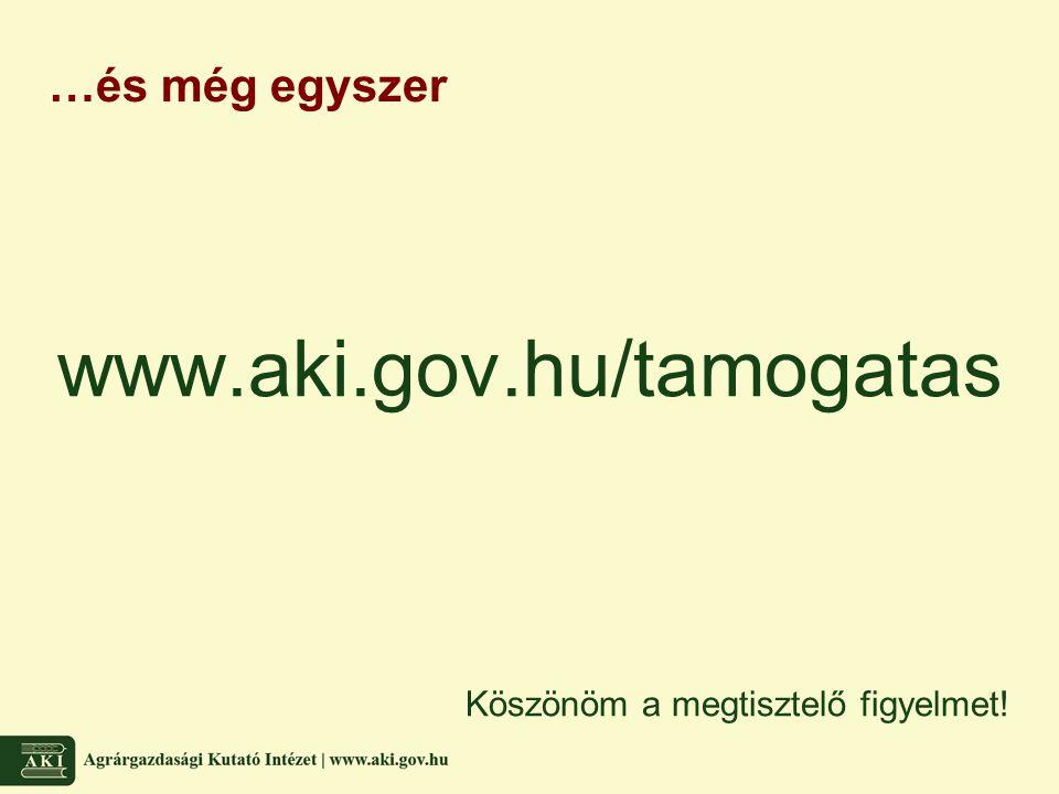 …és még egyszer www.aki.gov.hu/tamogatas Köszönöm a megtisztelő figyelmet!