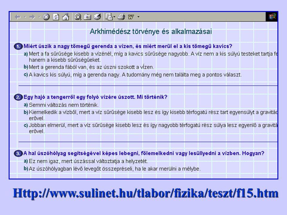 Http://www.sulinet.hu/tlabor/fizika/teszt/f15.htm
