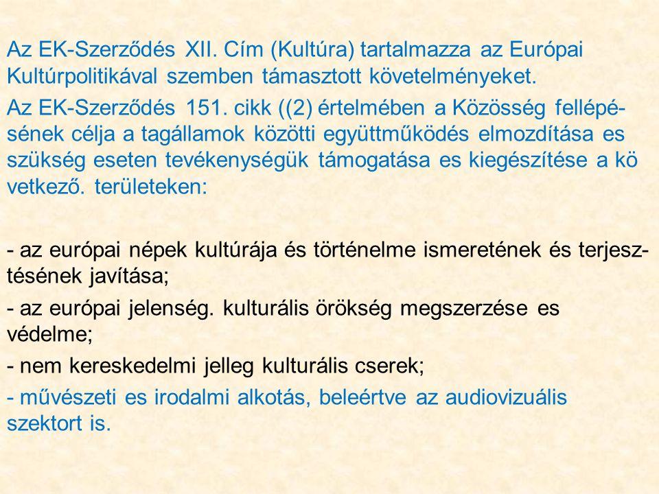 Az EK-Szerződés XII.