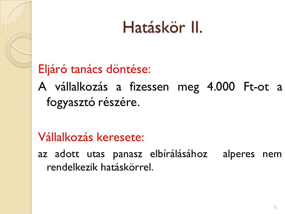 Hatáskör III.