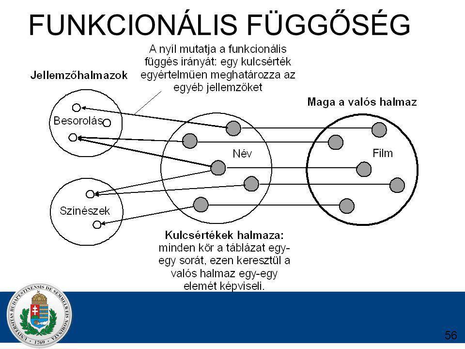 FUNKCIONÁLIS FÜGGŐSÉG 56