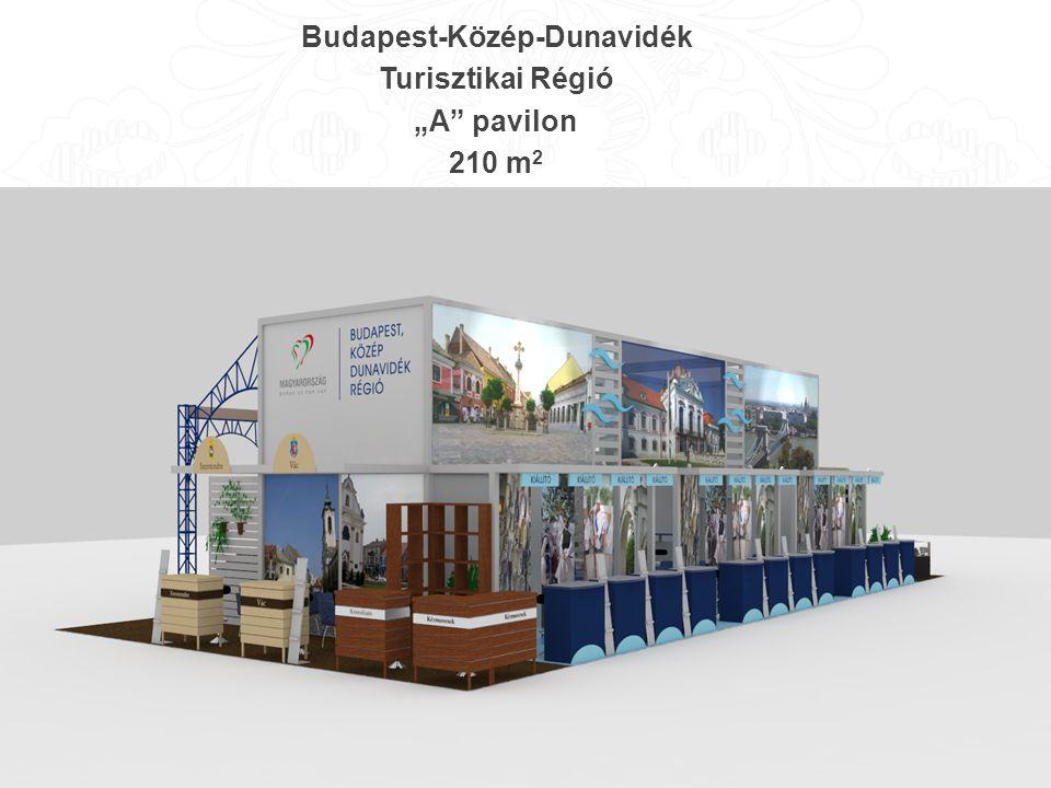 "Budapest-Közép-Dunavidék Turisztikai Régió ""A pavilon 210 m 2"