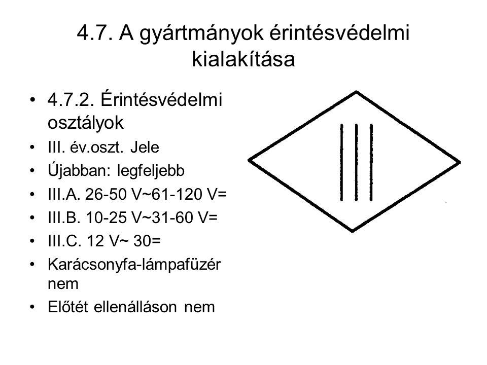 4.7.A gyártmányok érintésvédelmi kialakítása 4.7.2.