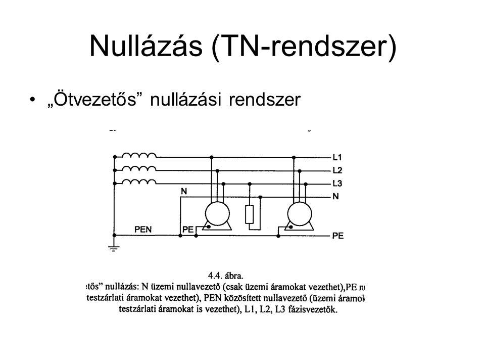"""Nullázás (TN-rendszer) """"Ötvezetős nullázási rendszer"""
