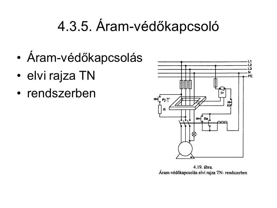 4.3.5. Áram-védőkapcsoló Áram-védőkapcsolás elvi rajza TN rendszerben