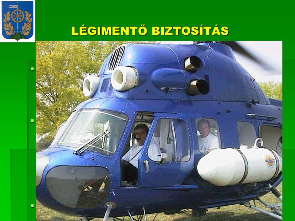 LÉGIMENTŐ BIZTOSÍTÁS  A MIK irányítása alatt a Balatonkiliti Repülőtéren felderítési és légi-mentési feladattal 1 db.