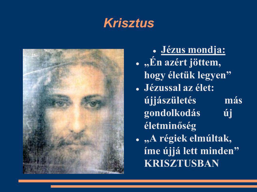 """Krisztus Jézus mondja: """"Én azért jöttem, hogy életük legyen Jézussal az élet: újjászületés más gondolkodás új életminőség """"A régiek elmúltak, íme újjá lett minden KRISZTUSBAN"""