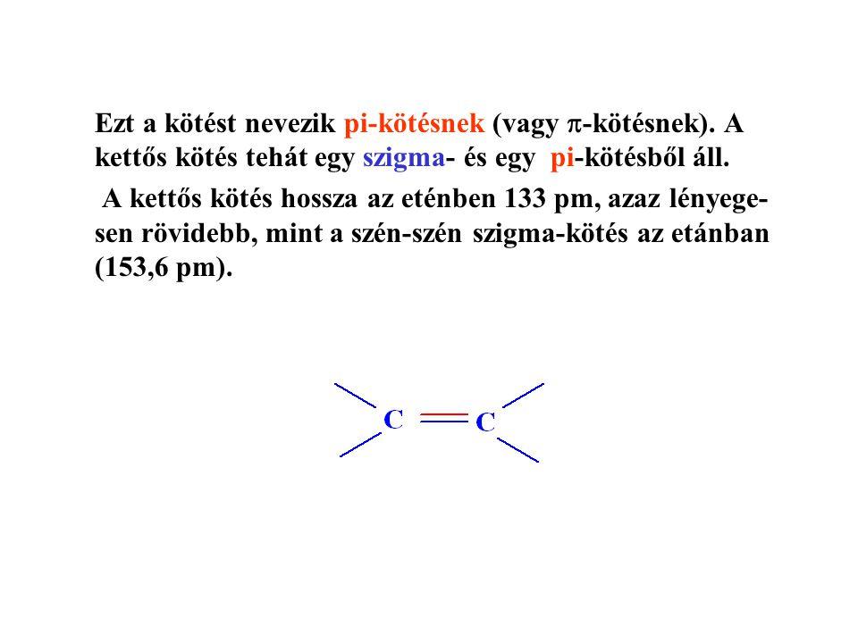 Ezt a kötést nevezik pi-kötésnek (vagy  -kötésnek).