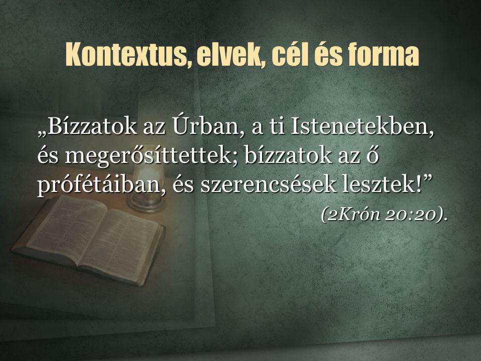 """""""Az evangélium szolgái a biztos próféci- ai beszédet mint a Hetedik Napot Ünneplő Adventisták hitének alapját mutassák be. (Evangélizáció, 97."""