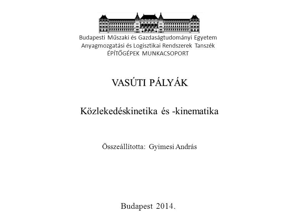 Vasúti pályák – vasúti közlekedéskinetika – Vonóerő Gyimesi András 2014.