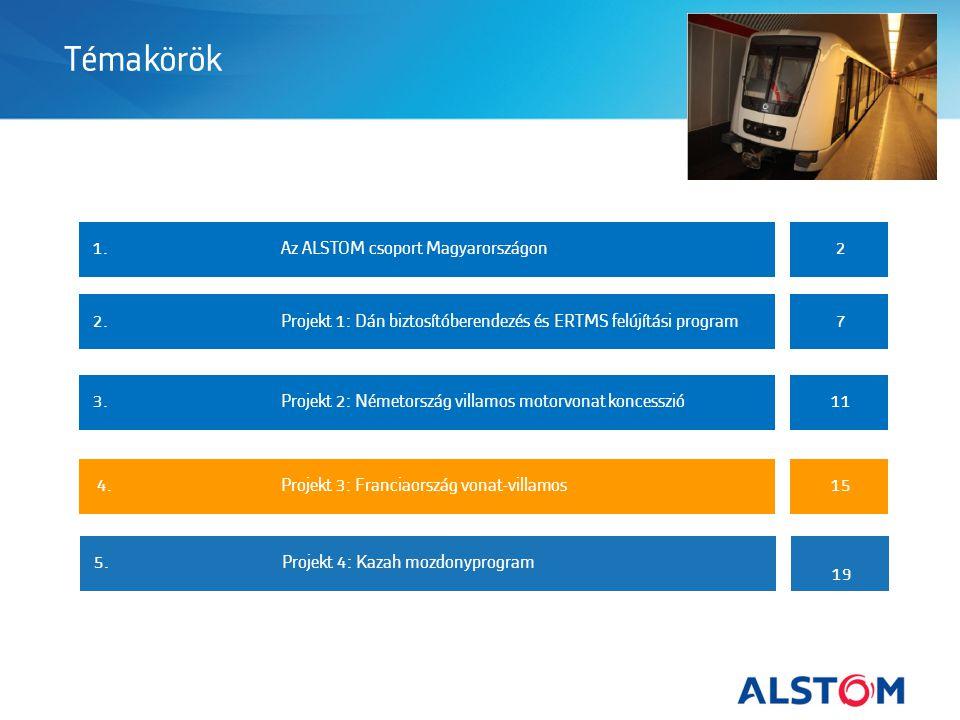 Témakörök 1.Az ALSTOM csoport Magyarországon2 2.