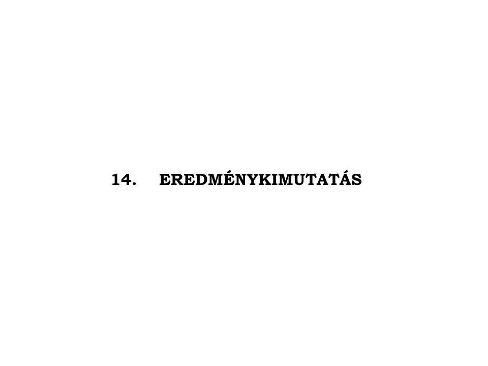 14.EREDMÉNYKIMUTATÁS