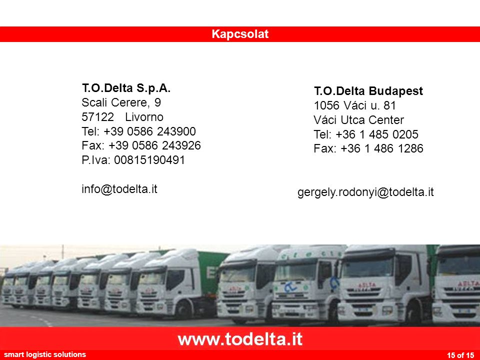 smart logistic solutions 15 of 15 T.O.Delta S.p.A.