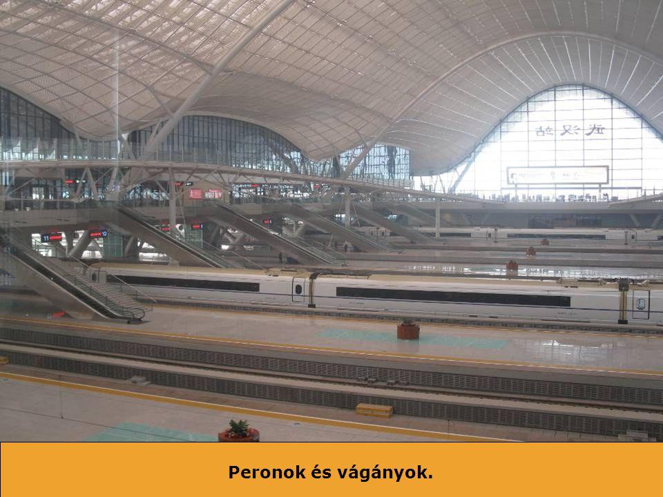 Az egyik végállomás – Guangzhou Északi pályaudvar