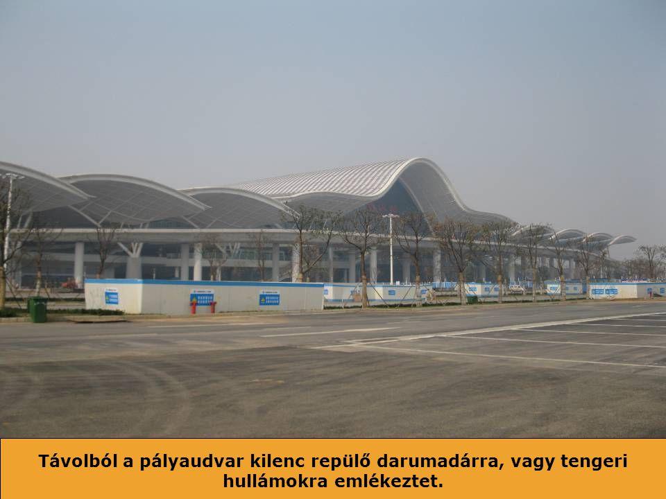 Guang zhou észak - Wuhan alig három óra utazás