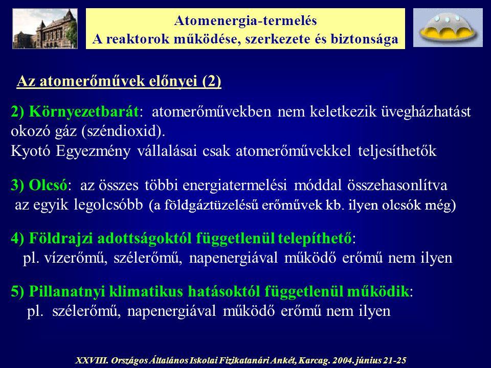 Atomenergia-termelés A reaktorok működése, szerkezete és biztonsága XXVIII. Országos Általános Iskolai Fizikatanári Ankét, Karcag. 2004. június 21-25
