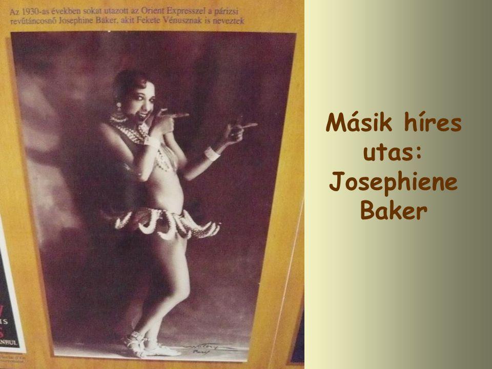 Másik híres utas: Josephiene Baker