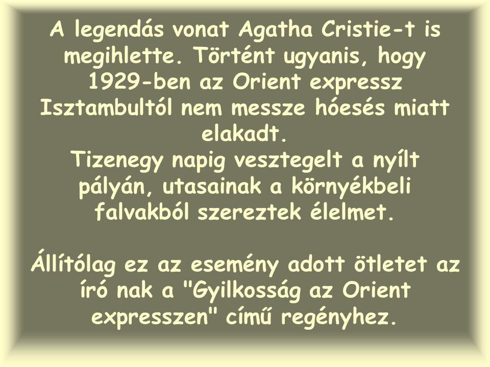 A legendás vonat Agatha Cristie-t is megihlette.