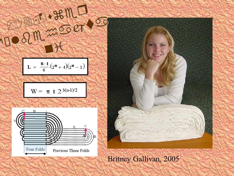 12-szer félbehajta ni Britney Gallivan, 2005