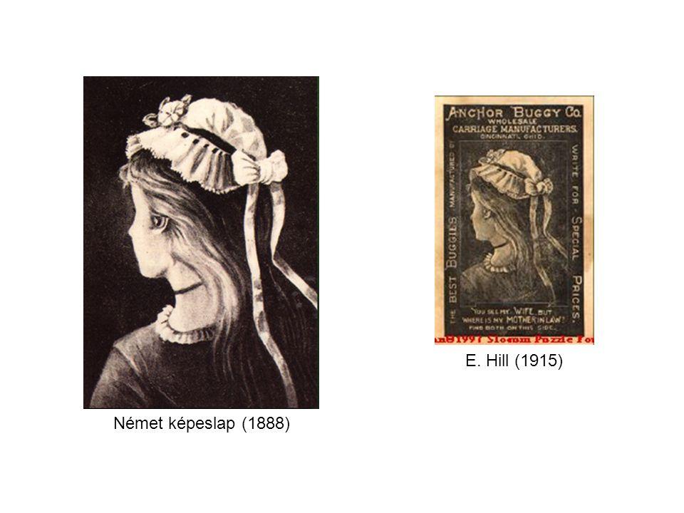 Német képeslap (1888) E. Hill (1915)