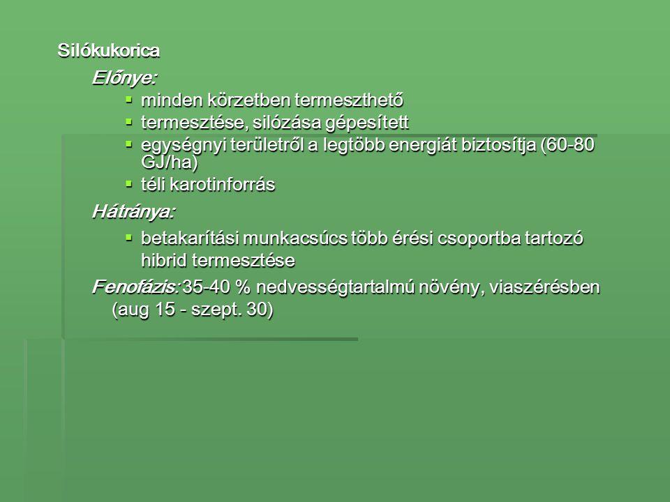 Takarmányismeret:erjesztett takarmányok csoportos csomagolású (fóliatömlő) bálaszilázs/szenázs